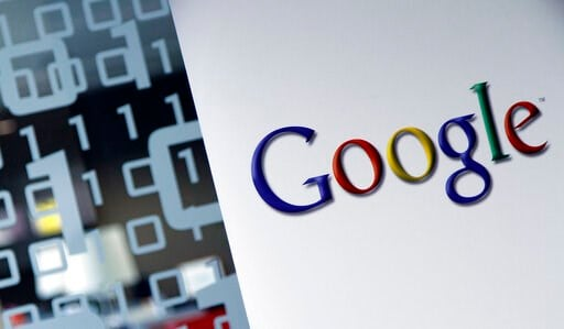 (AP Photo/Virginia Mayo, File). FILE - This March 23, 2010, file photo shows the Google logo at the Google headquarters in Brussels. Google, the tech giant known universally for its search engine, also has fingers in a number of other pies, like online...