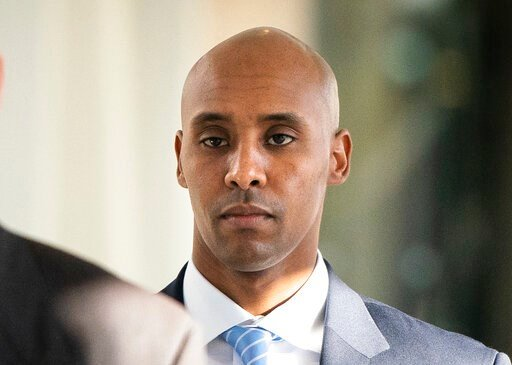 (Leila Navidi/Star Tribune via AP, File). FILE - In this April 26, 2019, file photo, former Minneapolis police officer Mohamed Noor walks to court in Minneapolis. Attorneys for Noor, convicted of fatally shooting an unarmed woman in 2017, plan to ask a...
