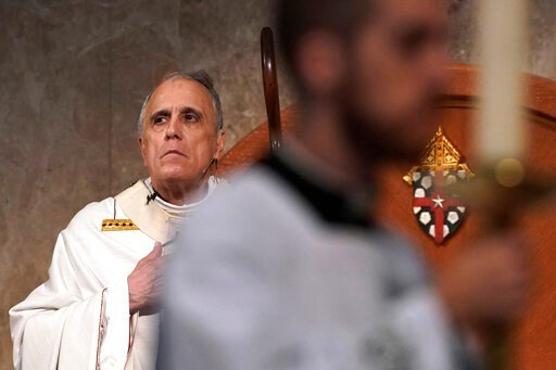 (AP Photo/David J. Phillip). Cardinal Daniel DiNardo presides over a Mass of Ordination for candidates for the priesthood at the Co-Cathedral of the Sacred Heart in Houston Saturday, June 1, 2019. DiNardo, leading the U.S. Catholic Church's sex abuse r...