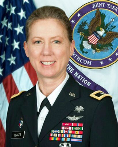(National Guard via AP). In this undated National Guard photo is Brig. Gen. Laura Yeager. The California National Guard has announced the appointment of the first woman to lead a U.S. Army infantry division. Brig. Gen. Laura Yeager will assume command ...