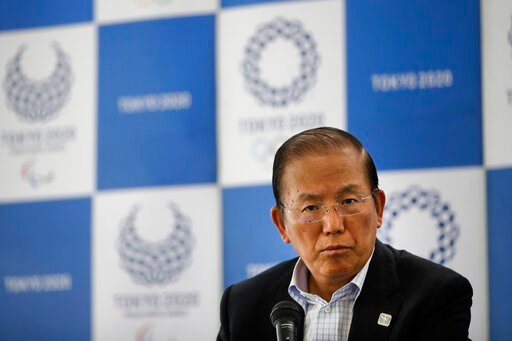(AP Photo/Jae C. Hong). Toshiro Muto, CEO of the 2020 Tokyo Olympics organizing committee, listens to questions from the media during a news conference Tuesday, June 11, 2019, in Tokyo. Cannabis has been legalized in some parts of the world. But the ch...