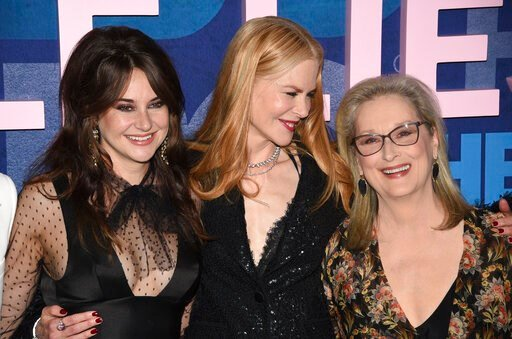 "(Photo by Evan Agostini/Invision/AP). Shailene Woodley, from left, Nicole Kidman and Meryl Streep attend the premiere of HBO's ""Big Little Lies"" season two at Jazz at Lincoln Center on Wednesday, May 29, 2019, in New York."