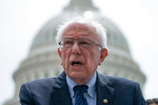 (AP Photo/J. Scott Applewhite, File). FILE - In this May 22, 2019, file photo, Democratic presidential candidate, Sen. Bernie Sanders, I-Vt., speaks at the Capitol in Washington. Sanders is set to give a major speech to rebut accusations by President D...