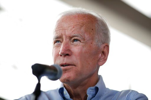 (AP Photo/Matthew Putney). Democratic presidential candidate former Vice President Joe Biden speaks during a town hall meeting Tuesday, June 11, 2019, in Ottumwa, Iowa.