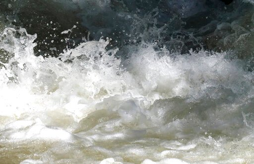 (AP Photo/Rick Bowmer). This Tuesday, June 11, 2019, photo shows the raging waters in the Big Cottonwood Creek, near Salt Lake City. The summer's melting snowpack is creating rivers that are running high, fast and icy cold. The state's snowpack this wi...