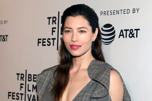 """(Photo by Andy Kropa/Invision/AP, File). FILE - In this April 25, 2017 file photo, Jessica Biel attends the screening of """"The Sinner,"""" during the 2017 Tribeca Film Festival, at SVA Theatre in New York. Biel says she's not opposed to vaccinations, but s..."""