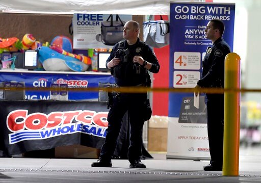 (Will Lester/Inland Valley Daily Bulletin/SCNG via AP). The Corona police department investigate a shooting inside a Costco in Corona, Calif.,  Friday, June 14, 2019.  A gunman opened fire inside the store during an argument,  killing a man, wounding t...