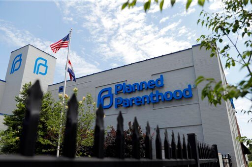 (AP Photo/Jeff Roberson). A Planned Parenthood clinic is seen Tuesday, June 4, 2019, in St. Louis. On Monday, June 10, 2019, a judge in St. Louis issued another order allowing Missouri's only abortion clinic to continue operating. Circuit Judge Michael...