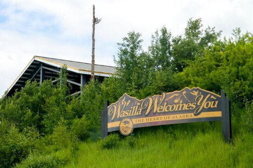 (AP Photo/Mark Thiessen). This June 14, 2019, photo shows a Wasilla sign on the outskirts of Wasilla, Alaska. Alaska Gov. Mike Dunleavy has called lawmakers into special session in Wasilla beginning July 8, but some lawmakers have expressed concerns ov...