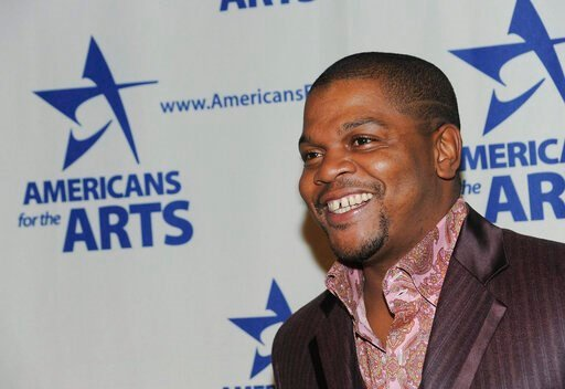 (AP Photo/Evan Agostini, File). FILE - In this Oct. 6, 2008 file photo, Artist Kehinde Wiley attends the 2008 National Arts Awards presented by Americans For The Arts at Cipriani's 42nd St.  in New York.  Wiley will unveil in New York's Time Square his...