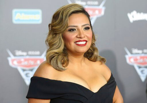 """(Photo by Willy Sanjuan/Invision/AP, File). FILE - This June 10, 2017 file photo shows Cristela Alonzo at the LA Premiere of """"Cars 3"""" in Anaheim, Calif. Alonzo is telling her story in words and music, what she calls a """"mixtape memoir."""" The actress and ..."""
