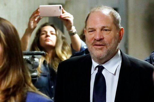 (AP Photo/Richard Drew). FILE - In this April 26, 2019, file photo, former movie mogul Harvey Weinstein leaves State Supreme Court in New York for a lunch break. Weinstein is recasting his defense team yet again, this time a mere 60 days before he's du...