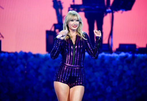 (Photo by Evan Agostini/Invision/AP). Singer Taylor Swift performs at Amazon Music's Prime Day concert at the Hammerstein Ballroom on Wednesday, July 10, 2019, in New York.