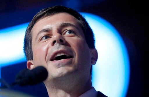 "(AP Photo/Gerald Herbert). In this July 7, 2019, photo, Democratic presidential candidate South Bend Mayor Pete Buttigieg speaks at the 25th Essence Festival in New Orleans. Buttigieg has a message for white liberals who decry racism: ""Good intentions ..."