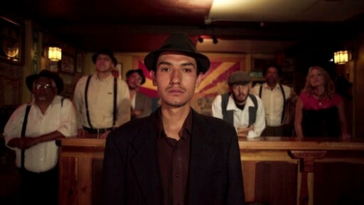 """(Jarred Alterman/4th Row Films via AP). This undated photo provided by 4th Row Films shows Fernando Serrano, 23, who plays a striking miner in """"Bisbee '17,"""" a story of how some 1,200 miners, most of them immigrants, were pulled violently from their hom..."""