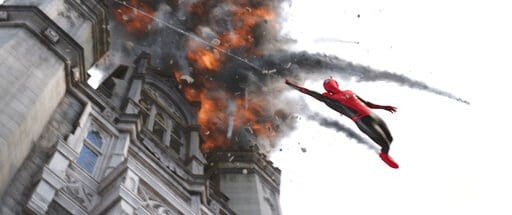 """(Columbia Pictures/Sony via AP). This image released by Sony Pictures shows a scene from """"Spider-Man: Far From Home."""""""