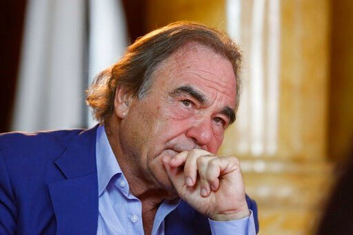 (AP Photo/Amel Emric, File). FILE - In this Aug. 15, 2017, file photo, Oliver Stone is shown during interview with Associated Press in Sarajevo, Bosnia. Oliver Stone has some memories to share, not all of them happy. Houghton Mifflin Harcourt announced...