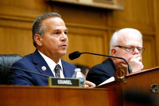 (AP Photo/Patrick Semansky). Rep. David Cicilline, D-R.I., left, chair of the House Judiciary antitrust subcommittee, speaks alongside ranking member, Rep. Jim Sensenbrenner, R-Wisc., during a House Judiciary subcommittee hearing with representatives f...