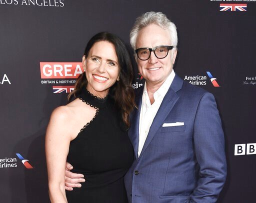 (Photo by Richard Shotwell/Invision/AP, File). FILE - This Jan. 6, 2018 file photo shows Amy Landecker and Bradley Whitford at the 2018 BAFTA Los Angeles Awards Season Tea Party in Los Angeles. Landecker said, Thursday, July 18, 2019, she wed Whitford....