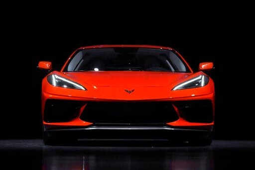 (AP Photo/Paul Sancya). This June 24, 2019, photo shows a pre-production 2020 Chevrolet Corvette automobile in Warren, Mich. The mid-engine C8, the flagship of GM's Chevrolet brand, will have the weight balance and center of gravity of a race car, riva...