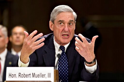 (AP Photo/J. Scott Applewhite, file). FILE - In this June 19, 2013, file photo, then-FBI Director Robert Mueller testifies on Capitol Hill in Washington. When special counsel Mueller testifies before Congress it will be a moment many have been waiting ...