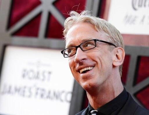 (Photo by Dan Steinberg/Invision/AP, File). FILE - In this Aug. 25, 2013, file photo, comedian Andy Dick arrives at the Comedy Central Roast of James Franco at The Culver Studios in Culver City, Calif. Dick says he was assaulted outside a New Orleans n...