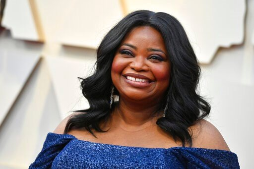 (Photo by Jordan Strauss/Invision/AP, File). FILE - In this Sunday, Feb. 24, 2019, file photo, Octavia Spencer arrives at the Oscars at the Dolby Theatre in Los Angeles. Spencer will be honored by the Gay, Lesbian and Straight Education Network with it...