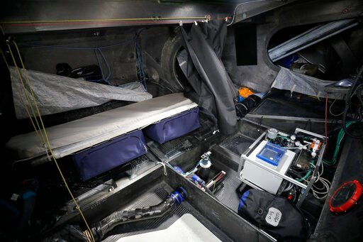 (AP Photo/Kirsty Wigglesworth). A view below deck of the boat Malizia, with a sleeping bunk shown on the left side, in Plymouth, England Tuesday, Aug. 13, 2019. Greta Thunberg, the 16-year-old climate change activist who has inspired student protests a...
