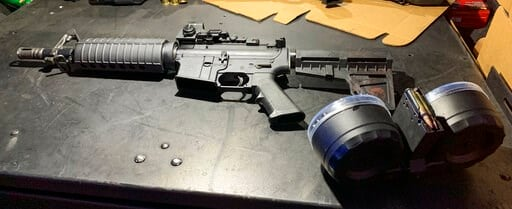 (Dayton Police Department via AP). This August 2019 photo provided by the Dayton Police Department shows the firearm used by Connor Betts in a mass shooting in a popular entertainment district on Aug. 4, 2019, in Dayton, Ohio.