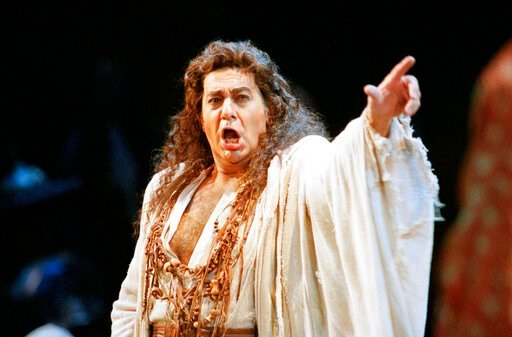 """(AP Photo/Dwayne Newton). FILE - In this Nov. 5, 1994 file photo, Placido Domingo performs in the San Francisco Opera's production of """"Herodiade"""" in San Francisco. On Tuesday, Aug. 13, 2019, the San Francisco Opera said it is canceling an October conce..."""