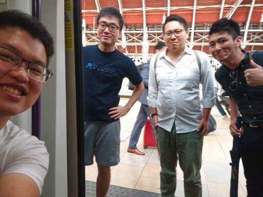 (Wilson Li via AP). This photo provided by Wilson Li shows Simon Cheng Man-kit, second from left, a resident of Hong Kong. China said Wednesday, Aug. 21, 2019, Cheng, a staffer at the British consulate in Hong Kong, has been given 15 days of administra...