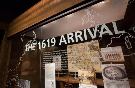 (L. Todd Spencer/The Virginian-Pilot via AP). The Hampton History Museum has created an exhibit, The 1619 Arrival, that tells the stories of the first Africans who landed at Point Comfort in 1619.