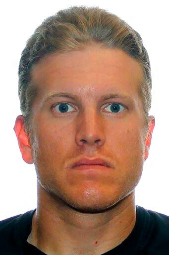 (Royal Canadian Mounted Police via AP). This undated photo provided by the Royal Canadian Mounted Police shows Patrik Mathews. Authorities in northern Minnesota and Canada are warning the public to avoid making contact with Patrik Mathews, a former Can...