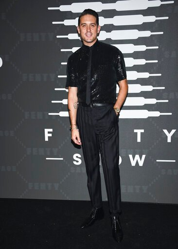 (Photo by Evan Agostini/Invision/AP). Rapper G-Eazy attends the Spring/Summer 2020 Savage X Fenty show, presented by Amazon Prime, at the Barclays Center on Tuesday, Sept, 10, 2019, in New York.