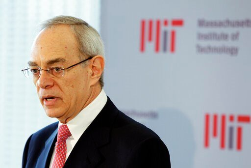 (AP Photo/Stephan Savoia, File). FILE - In this May 16, 2012, file photo, L. Rafael Reif addresses a news conference after he was announced as the 17th president of the Massachusetts Institute of Technology in Cambridge, Mass. President of the Massachu...