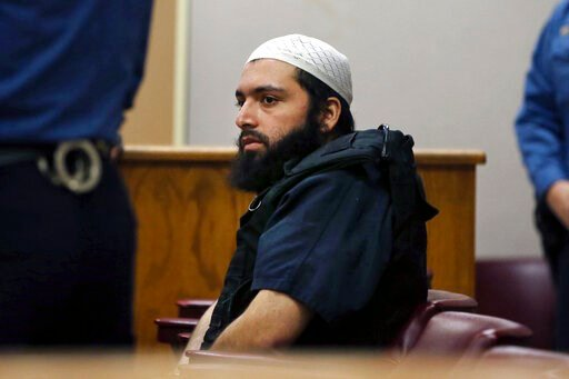(AP Photo/Mel Evans, File). FILE - In this Dec. 20, 2016 file photo, Ahmad Khan Rahimi, the man accused of setting off bombs in New Jersey and New York's Chelsea neighborhood, sits in court in Elizabeth, N.J. Jurors in New Jersey have resumed deliberat...
