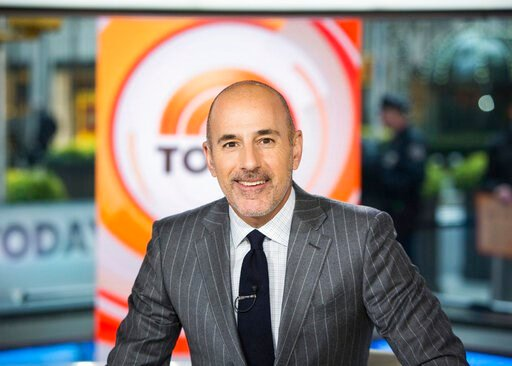 "(Nathan Congleton/NBC via AP). This Nov. 8, 2017 photo released by NBC shows Matt Lauer on the set of the ""Today"" show in New York. A woman who worked with NBC at the Sochi Olympics claims she was raped by former anchor Lauer at a hotel there, an encou..."