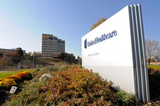 (AP Photo/Jim Mone, File). FILE - This Tuesday, Oct. 16, 2012, file photo, shows a portion of the UnitedHealth Group Inc.'s campus in Minnetonka, Minn. UnitedHealth Group reports financial results Tuesday, Oct. 14, 2019.
