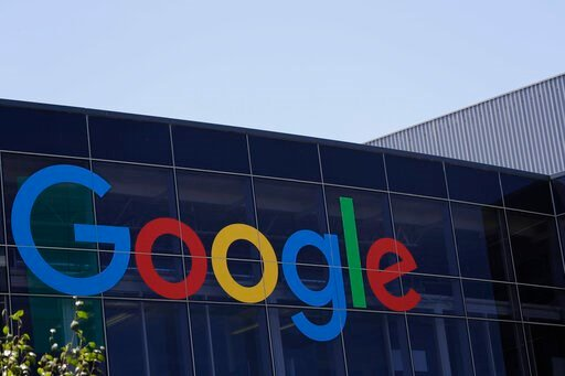 (AP Photo/Marcio Jose Sanchez, File). FILE - This July 19, 2016, file photo shows the Google logo at the company's headquarters in Mountain View, Calif. Google is expected to unveil a new Pixel phone with an updated camera and an emphasis on artificial...