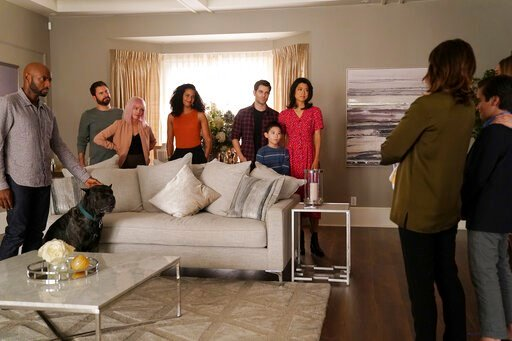 """(David Bukach/ABC via AP). This image released by ABC shows a scene from the series """"A Million Little Things."""" The sophomore drama, reality show """"Shark Tank"""" and the Fox first-responders drama """"9-1-1"""" are the only three of 49 prime-time shows returning..."""