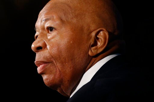 (AP Photo/Patrick Semansky). In this Aug. 7, 2019, photo, Rep. Elijah Cummings, D-Md., speaks during a luncheon at the National Press Club in Washington.  U.S. Rep. Cummings has died from complications of longtime health challenges, his office said in ...