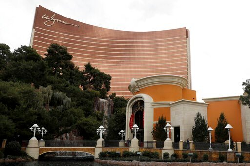 (AP Photo/Isaac Brekken, File). FILE - This Feb. 19, 2018, file photo shows the Wynn Las Vegas in Las Vegas. A former beauty salon director who went public about sexual misconduct allegations against casino mogul Steve Wynn is suing Wynn Resorts and ex...