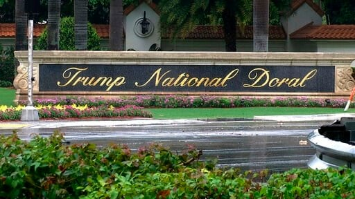 (AP Photo/Alex Sanz, File). FILE - This June 2, 2017, file image made from video shows the Trump National Doral in Doral, Fla. President Donald Trump said on Twitter on Saturday, Oct. 19, 2019, he is reversing his plan to hold the next Group of Seven w...