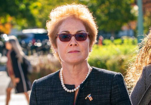 (AP Photo/J. Scott Applewhite). Former U.S. ambassador to Ukraine Marie Yovanovitch, arrives on Capitol Hill, Friday, Oct. 11, 2019, in Washington, as she is scheduled to testify before congressional lawmakers on Friday as part of the House impeachment...