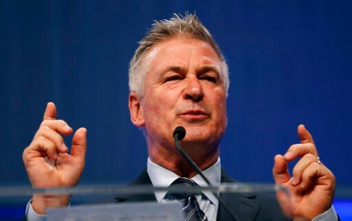 (AP Photo/Charlie Neibergall, File). FILE - In this Monday, Nov. 27, 2017, file photo, actor Alec Baldwin speaks during the Iowa Democratic Party's fall gala, in Des Moines, Iowa. Baldwin, known for his mocking impersonations of President Donald Trump ...