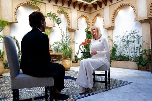 (AP Photo/Jacquelyn Martin). Ivanka Trump, the daughter and senior adviser to U.S. President Donald Trump, is interviewed by the Associated Press, Friday, Nov. 8, 2019, in Rabat, Morocco. Trump is in Morocco promoting a global economic program for women.