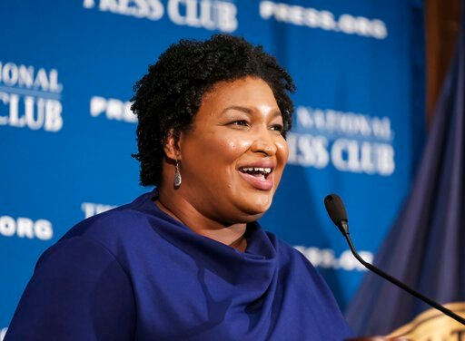 (AP Photo/Michael A. McCoy). In this Nov. 15, 2019, photo, former Georgia House Democratic Leader Stacey Abrams, speaks at the National Press Club in Washington. Growth and urbanization has made Georgia's population younger, less native to the state an...