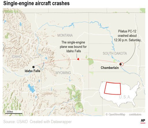 At least nine people are dead after a plane crashed shortly after takeoff Saturday.;