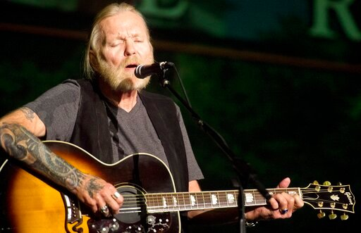 (Jason Vorhees/The Macon Telegraph via AP, File). FILE - In this May 16, 2016, file photo, Rock and Roll Hall of Famer Gregg Allman performs during Mercer University's Commencement at Hawkins Arena in Macon, Ga. Capricorn Sound Studios, the Macon, Ga.,...