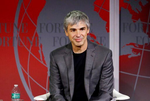 (AP Photo/Jeff Chiu, File). FILE - In this Nov. 2, 2015, file photo Alphabet CEO Larry Page speaks at the Fortune Global Forum in San Francisco.  Google co-founders Larry Page and Sergey Brin are stepping down from their roles within the parent company...